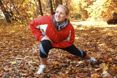 fall stretching runner