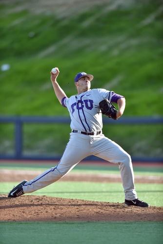 Throwing baseball